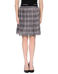 Darling Knee Length Skirts Grey