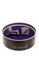 Ted Baker Woven Square Cuff Links Gray