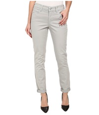 Nydj Anabelle Skinny Boyfriend Twill Pants Moonstone Grey Women's Jeans Gray