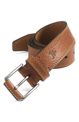 Men's Big And Tall Trask 'Gallatin' Belt Saddle Tan Bison
