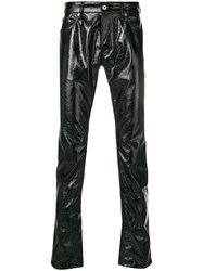 Just Cavalli Patent Leather Trousers Black