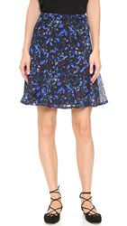 Yigal Azrouel Midnight Ferns Chiffon Skirt Midnight Multi