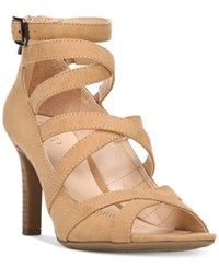Franco Sarto Quincey Strappy Dress Sandals Women's Shoes Camel