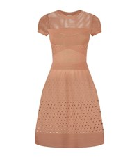 Pinko Stretch Ribbed Dress Female Neutral
