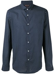 Michael Kors Dot Print Shirt Men Cotton L Blue