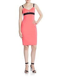 Milly Tech Stretch Sheath Dress Cotton Candy