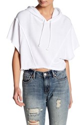 Free People Lost And Found Crop Tee White