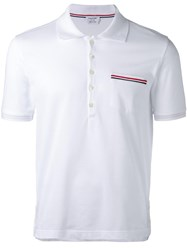Thom Browne Chest Pocket Polo Shirt White