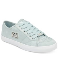 G By Guess Matrix Glitter Lace Up Sneakers Women's Shoes Sky Blue Glitter