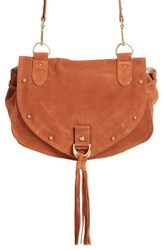 See By Chloe 'Medium Collins' Leather And Suede Messenger Bag Brown Chocolate Brown