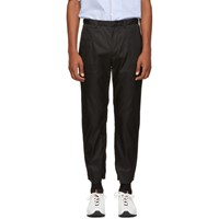 Prada Black Nylon Gabardine Trousers