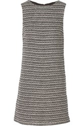 Alice Olivia Clyde Cotton And Linen Blend Mini Dress Black