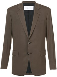 Julien David Classic Blazer Polyurethane Wool Xl Brown
