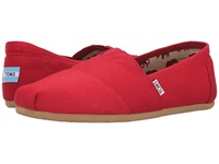 Toms Classic Canvas Red Men's Flat Shoes
