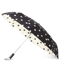 Kate Spade New York Deco Dot Travel Umbrella Black