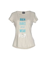 Emporio Armani Ea7 Topwear T Shirts Women Light Grey