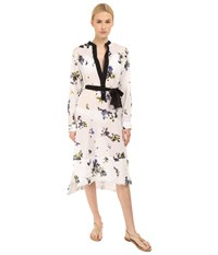 Proenza Schouler Fringe Shirtdress Cover Up Whilte