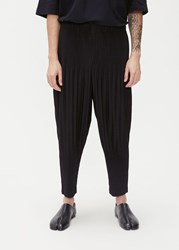 Homme Plisse Issey Miyake Basics Pleated Tapered Trouser Black