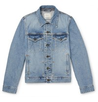 Rag And Bone Definitive Slim Fit Denim Jacket Blue