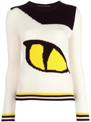 Ermanno Scervino Eye Intarsia Knit Jumper White