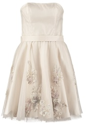 Laona Cocktail Dress Party Dress Light Beige Off White
