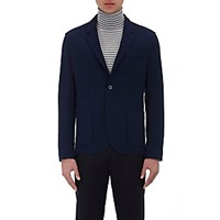 Lanvin Men's Deconstructed Jersey Two Button Sportcoat Navy
