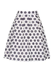 Cutie Polka Dot Skirt Navy
