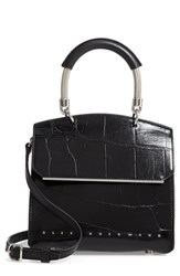 Alexander Wang Mini Dime Leather Satchel Black