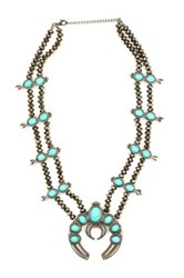 Eye Candy Los Angeles Blossom Turquoise Necklace Gray