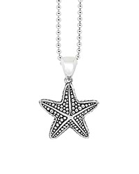 Lagos Starfish Pendant Necklace 34 Silver