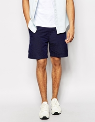 Penfield Shorts With Woven Dot Pattern Navy