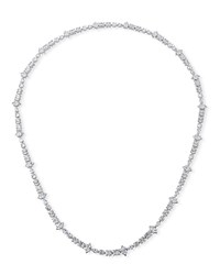 Fallon Jagged Edge Extra Long Necklace Silver