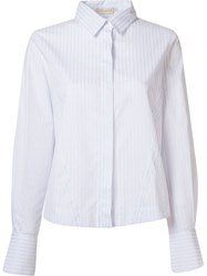 Giuliana Romanno Stripe Shirt Blue