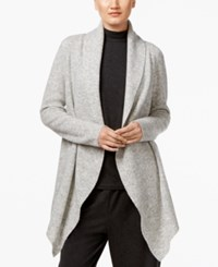 Eileen Fisher Open Front Shawl Collar Cardigan Dark Pearl
