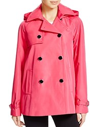 Calvin Klein Double Breasted Short Raincoat Hibiscus Pink
