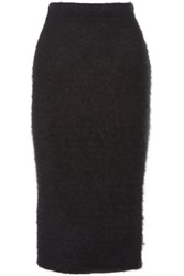 Helmut Lang Textured Knit Midi Skirt Black