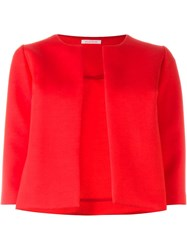P.A.R.O.S.H. Cropped Boxy Fit Jacket Red