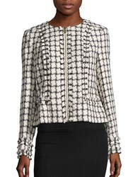 Karl Lagerfeld Tweed Blazer Soft White