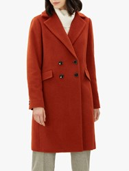 Jaeger Boucle Double Breasted Coat Rust