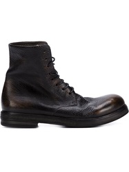 Marsell Marsell Distressed Lace Up Boots Black