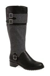 Bella Vita Women's 'Adriann Ii' Riding Boot Black Faux Leather Grey