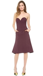 Nina Ricci Strapless Dress Pourpre Fonce