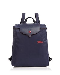 Longchamp Le Pliage Club Backpack Navy Silver