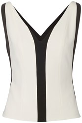 Narciso Rodriguez Paneled Bonded Stretch Crepe Top