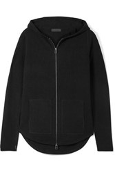 Atm Anthony Thomas Melillo Luxe Essentials Brushed Wool And Cashmere Blend Hoodie Black