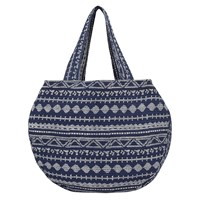 East Aztec Print Cotton Bag Navy