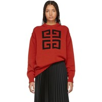 Givenchy Red 4G Sweater