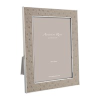 Addison Ross Shadow Faux Ostrich Photo Frame Neutral