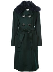 Coach Luxury Wool Trench Coat Black