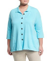 Neon Buddha Blue Moon Button Front Shirt Green